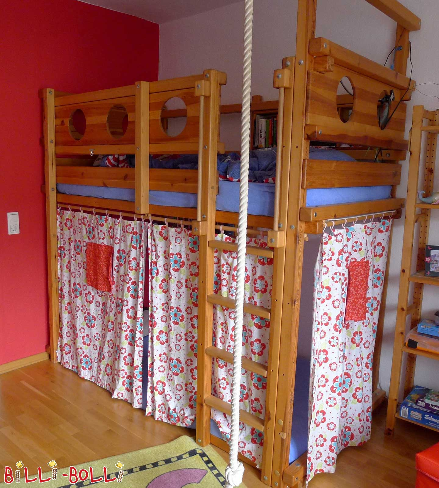 High bed - used in different construction variants (second hand loft bed)
