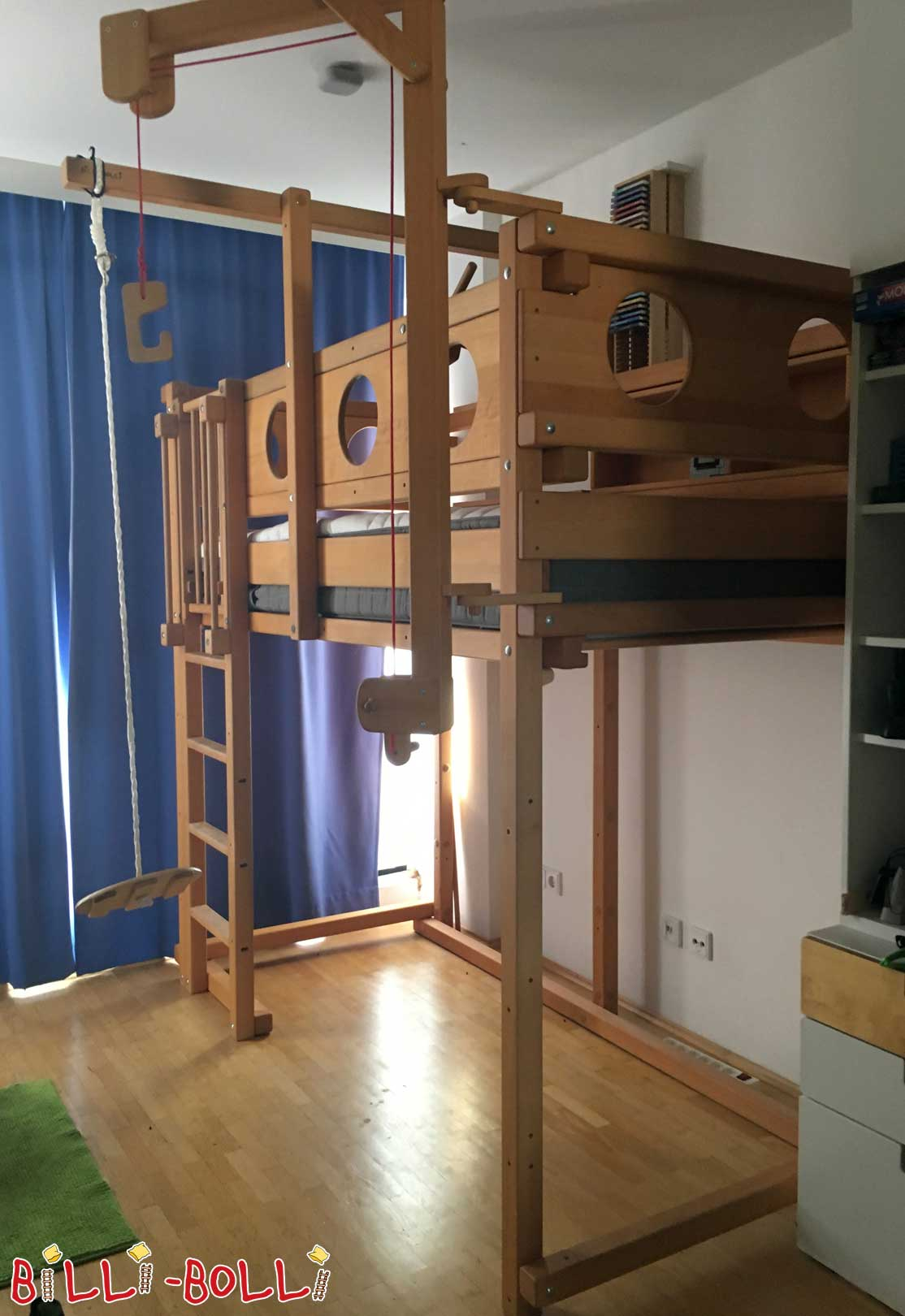 High bed - beech oiled (second hand loft bed)