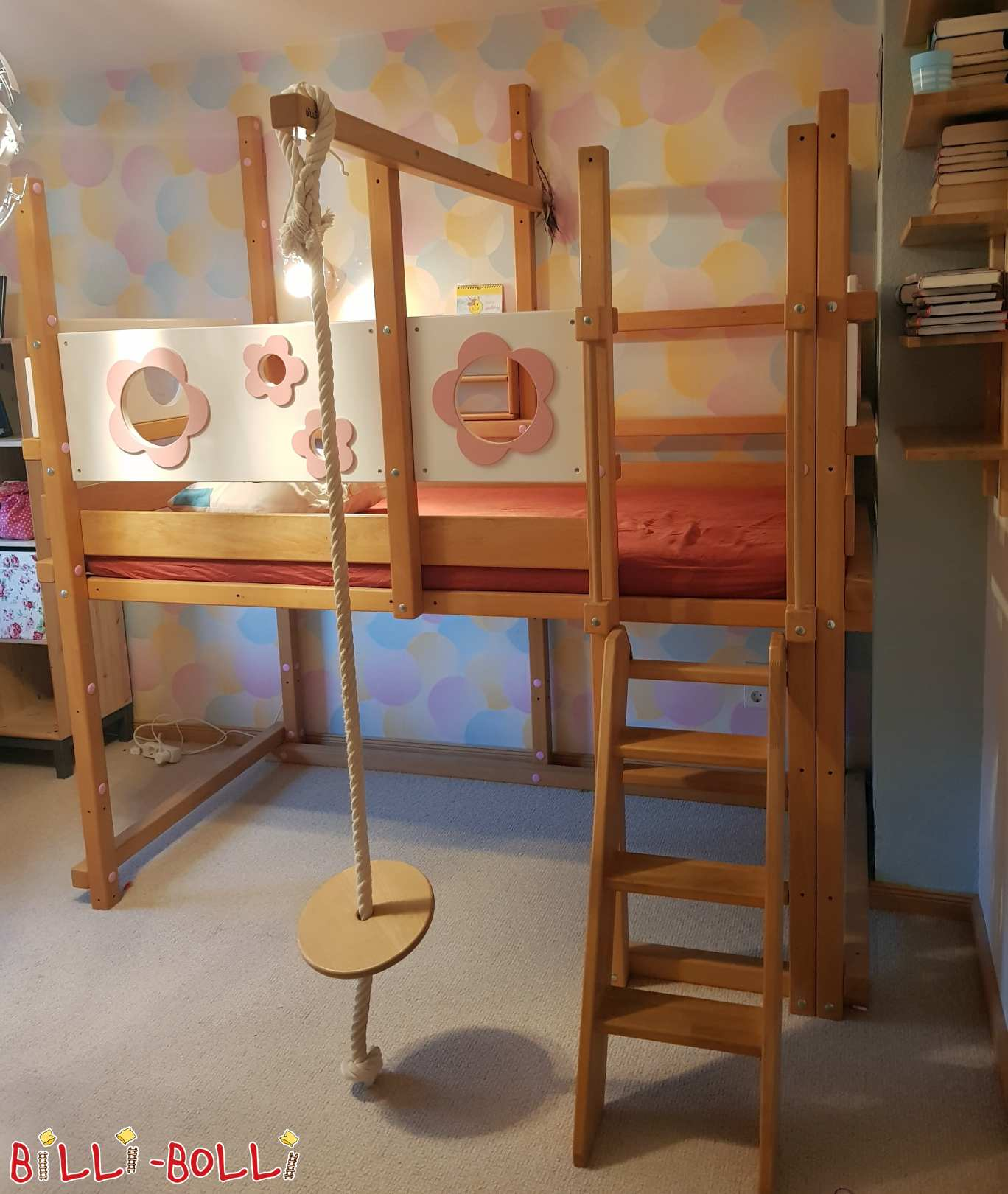 High bed 100 x 200 cm from beech in Berlin (second hand loft bed)