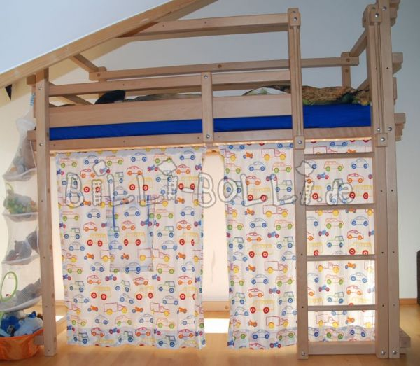 Bunk bed 90 x 200 cm, beech (second hand loft bed)