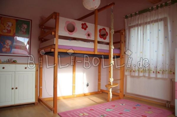 High bed 90 x 200 (second hand loft bed)