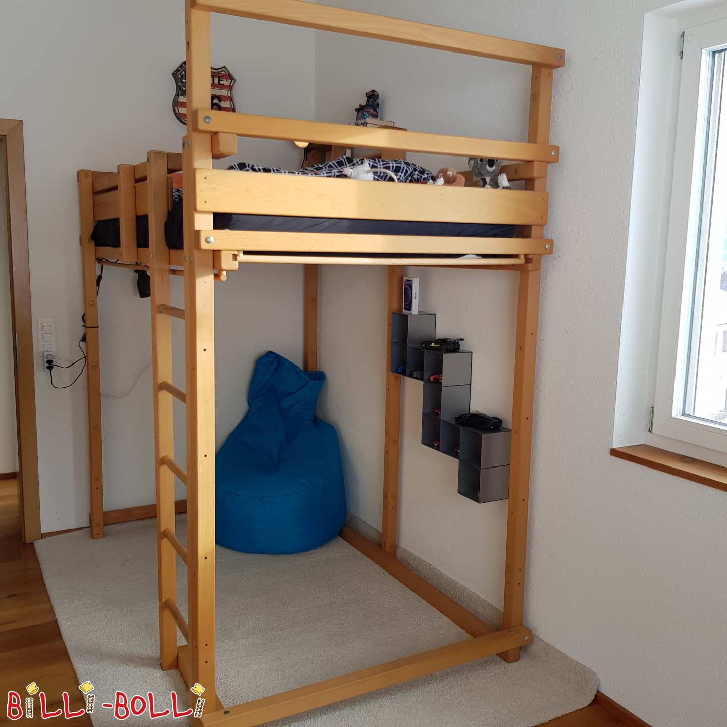 High bed, beech oiled, 120x200 in Gams (second hand loft bed)