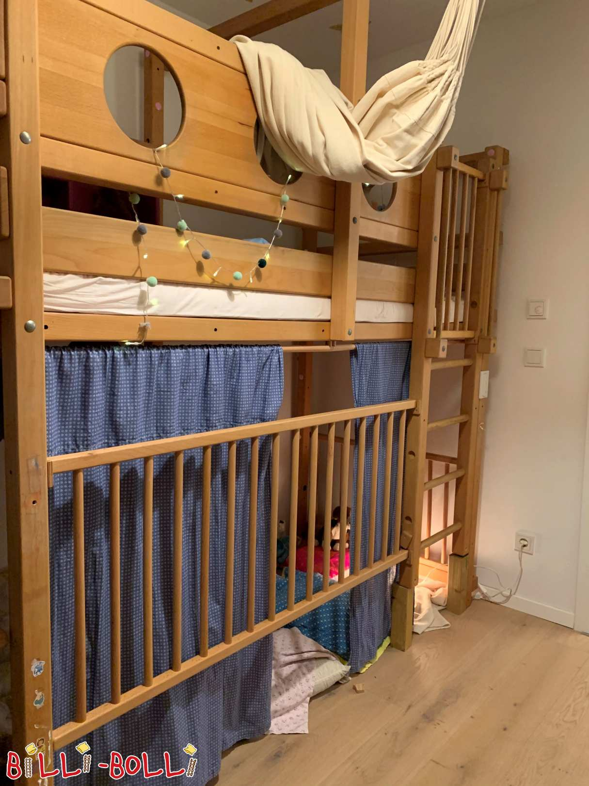 High bed, beech oiled in Seeshaupt (second hand loft bed)