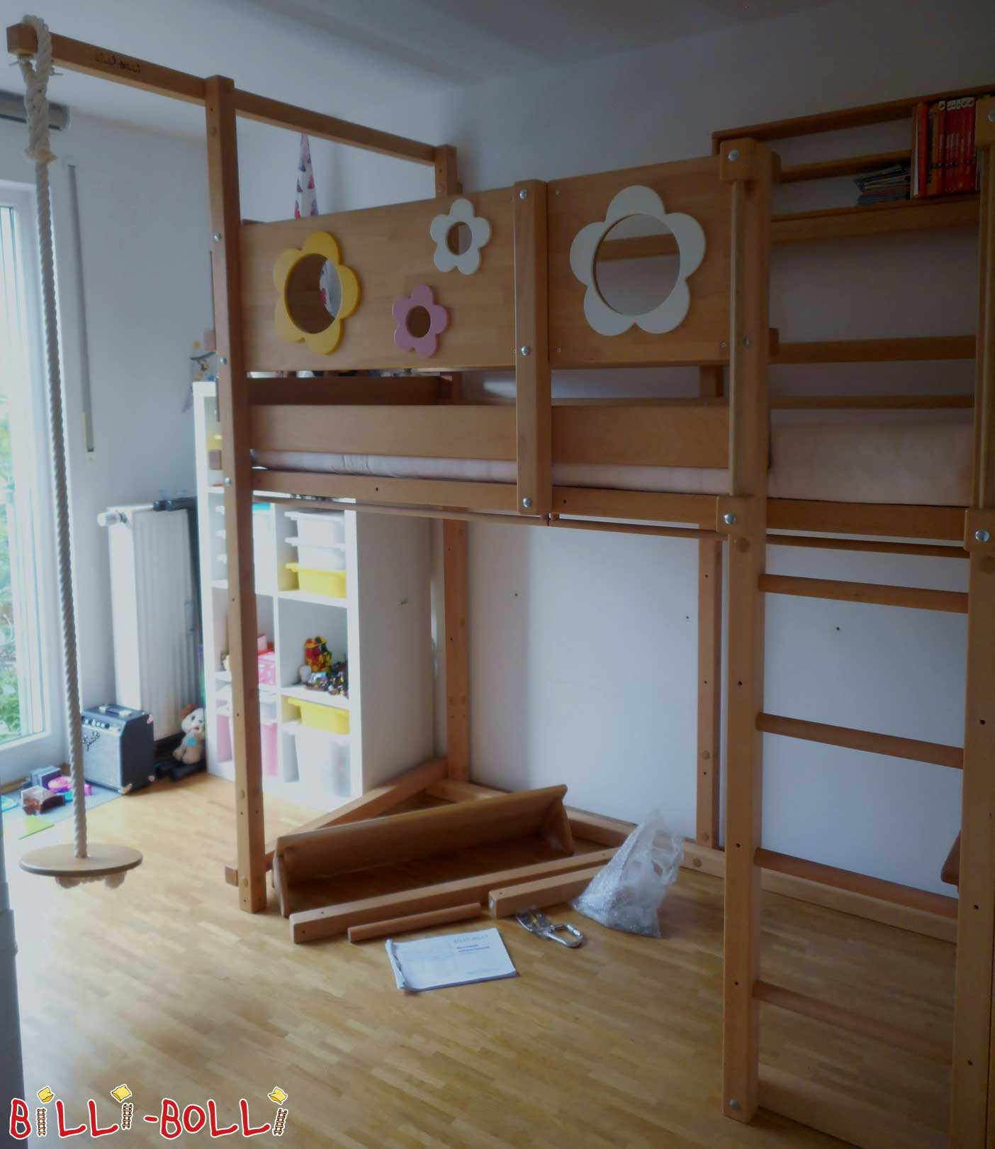 High bed beech (second hand loft bed)