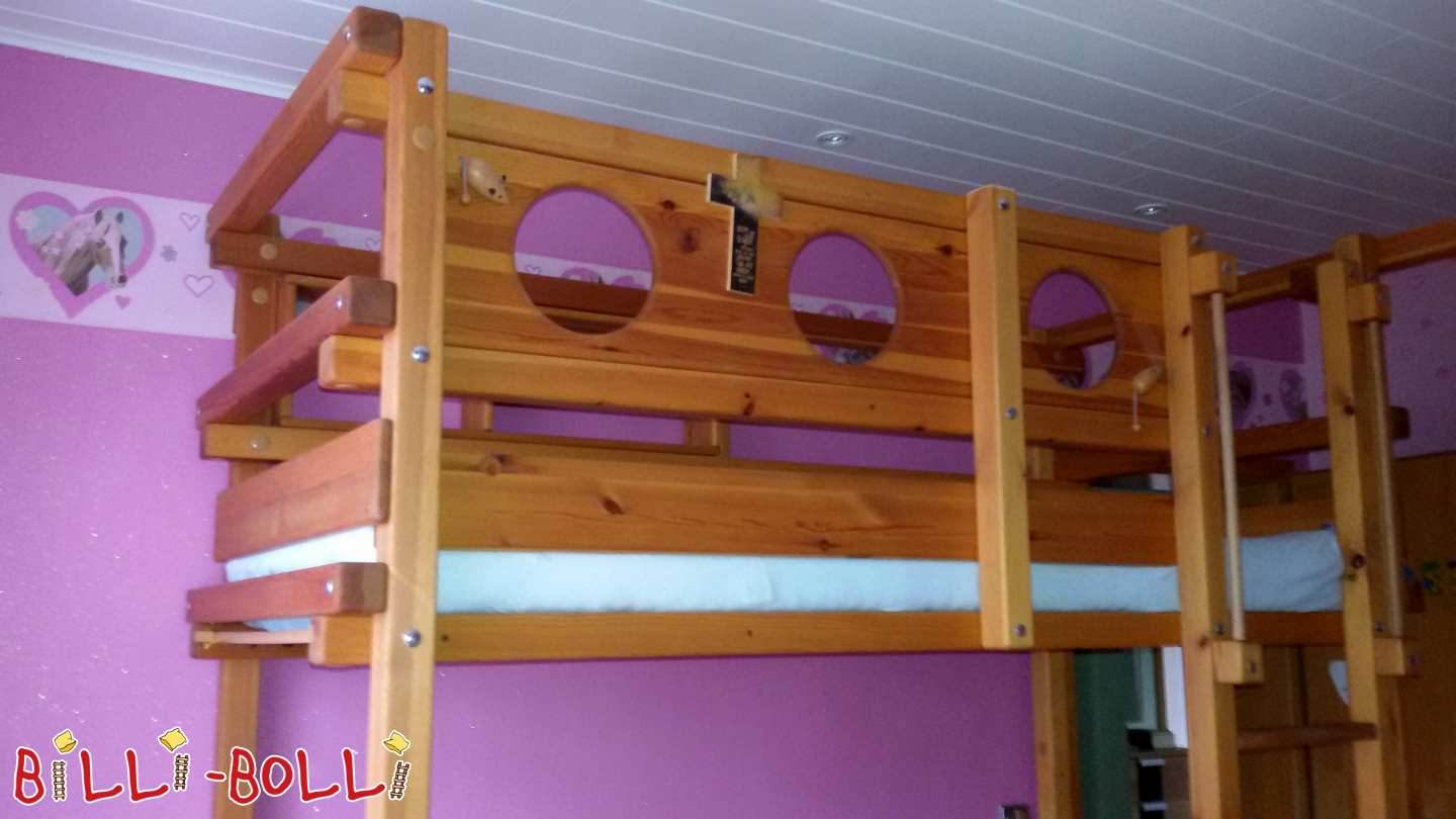 Bunk bed/skybed 80 x 190 cm from pine in Wanzleben (second hand loft bed)