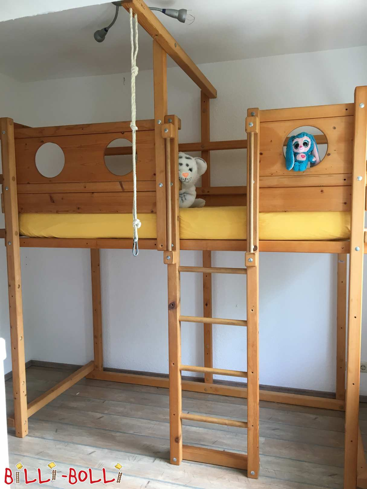 High bed with amber oil treatment in Kiel (second hand loft bed)