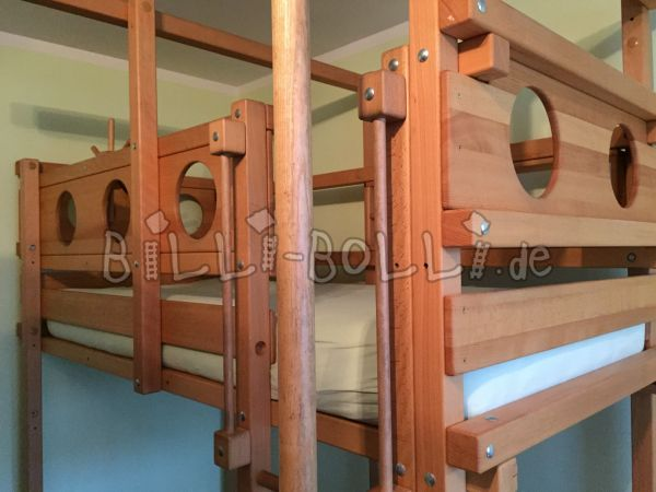 High bed with fire brigade bar (second hand loft bed)