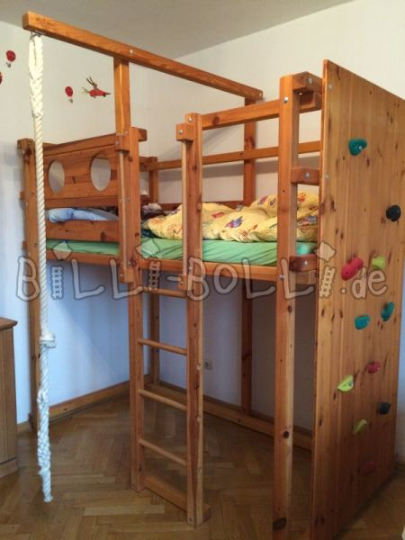 High bed with climbing wall (second hand loft bed)