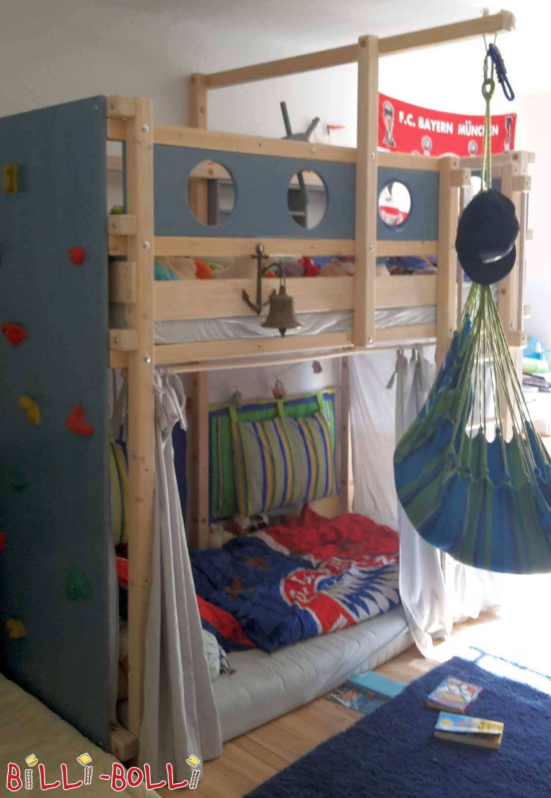Loft bed growing with, 90 x 200, spruce (second hand loft bed)