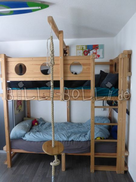 High bed (growing) with accessories and conversion kit (second hand loft bed)