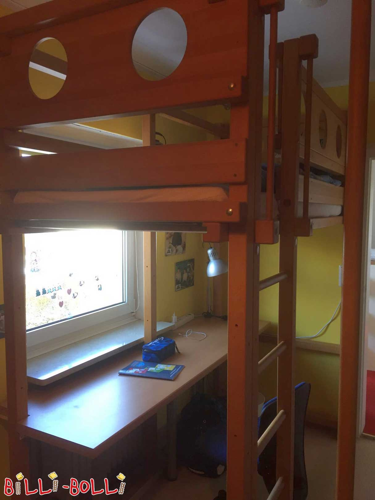 Loft bed growing with plus expansion to student bed (second hand loft bed)