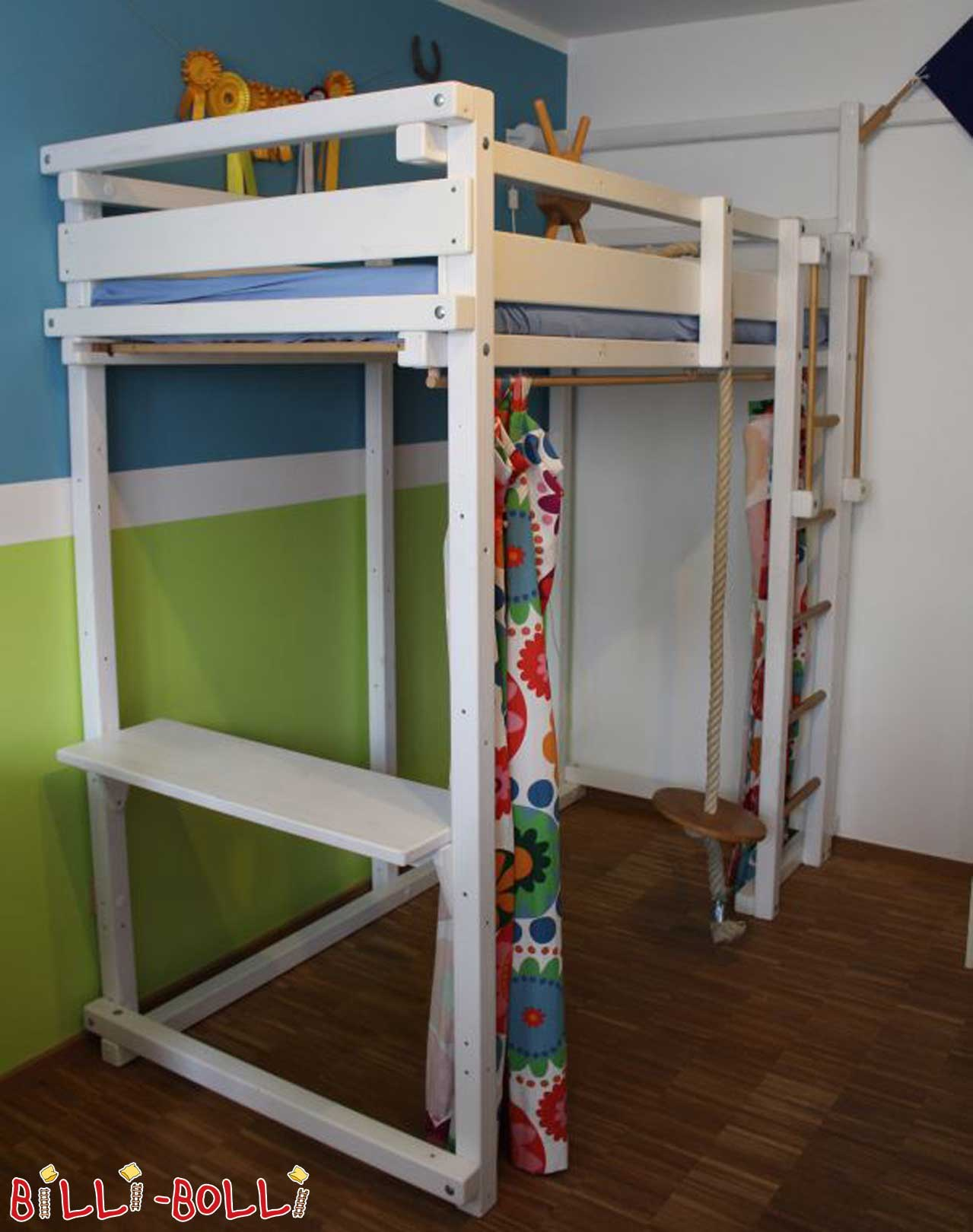 High bed growing, white lacquered (second hand loft bed)