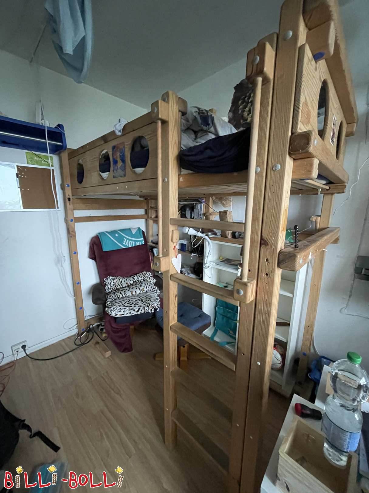 High-bed growing up (second hand loft bed)