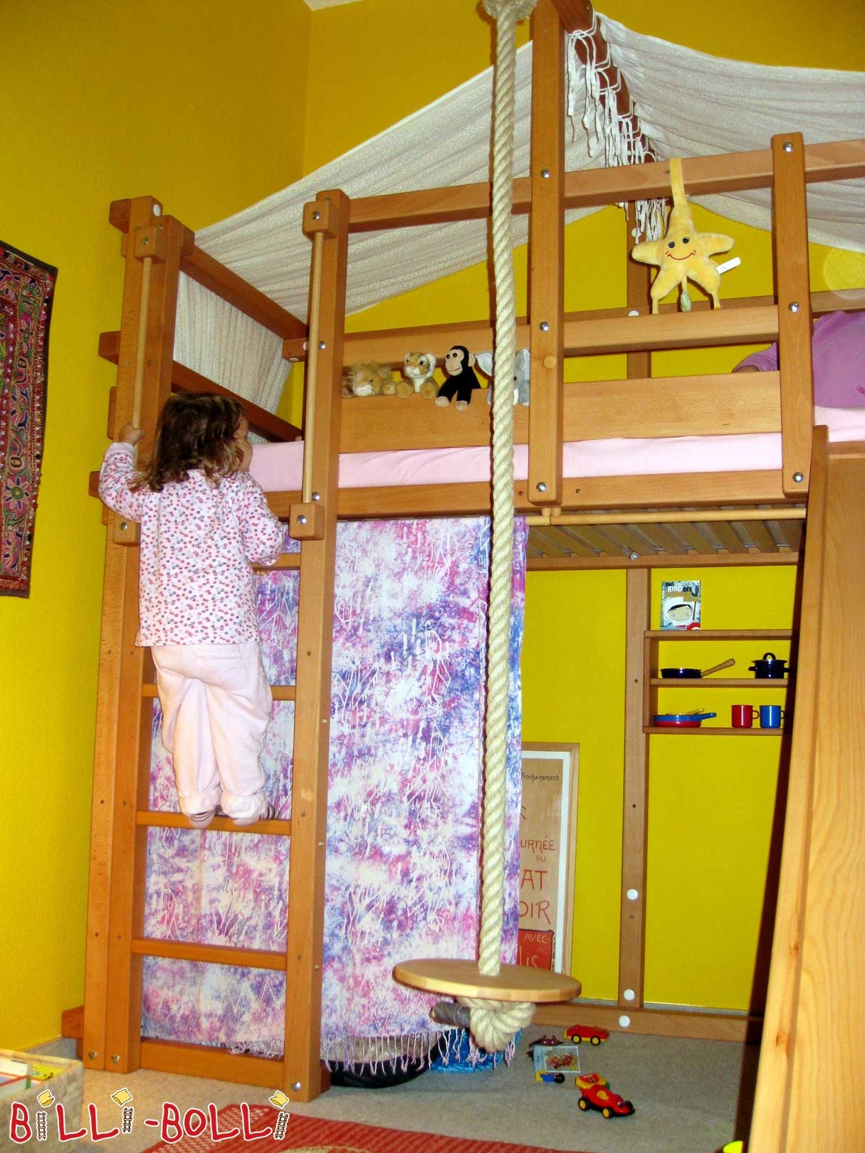 Growing bunk bed with slide and desk (second hand loft bed)