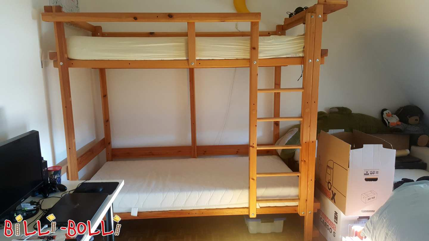 Youth bed floor, pine oil wax treated, 100 x 200 cm (second hand kids' furniture)