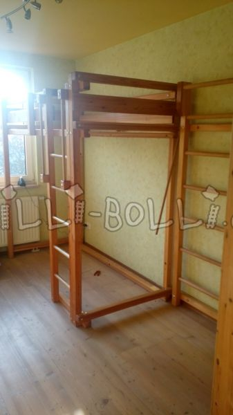 Youth cot 90 x 190, pine oiled (second hand loft bed)
