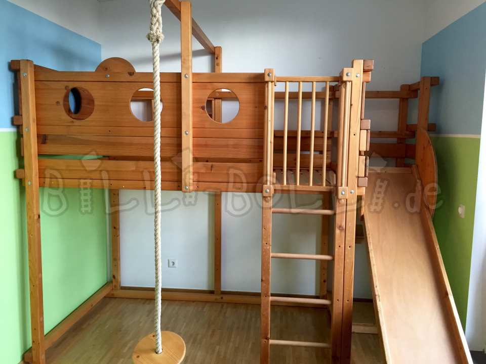 Join high bed, 120 x 200 cm, spruce oil-waxed (second hand loft bed)
