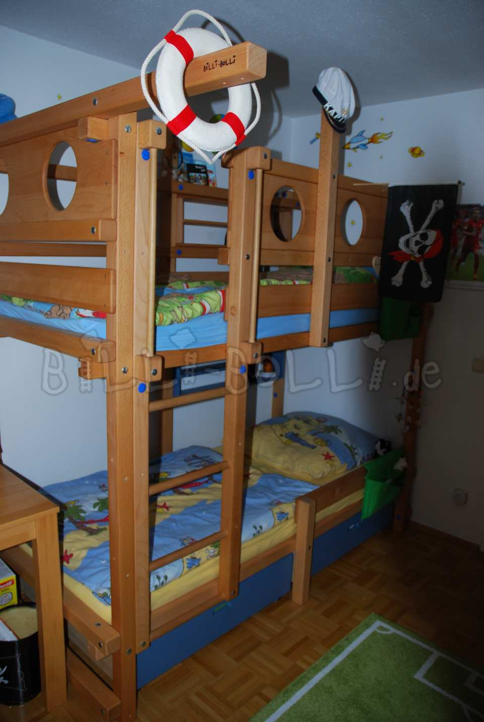 Join high bed, 90 x 200 cm, beech oil-waxed (second hand loft bed)