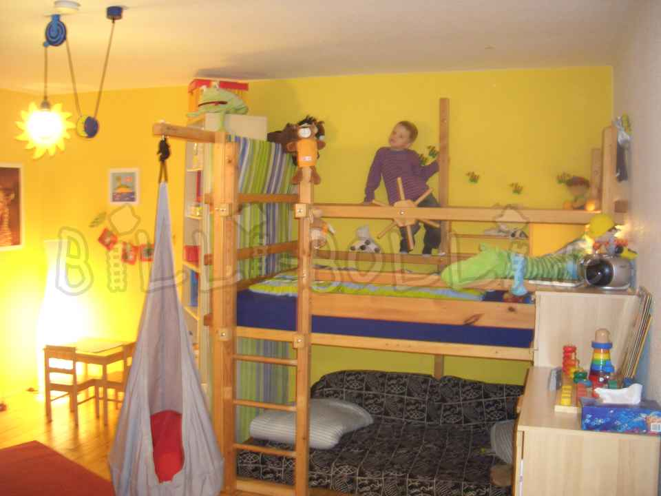 Growing Billi-Bolli high bed for sale (second hand loft bed)