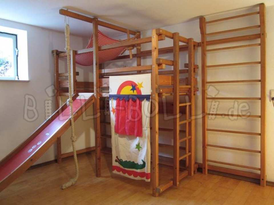 Co-growing Gullibo high bed, 90 x 200 cm, spruce honey-coloured oiled (second hand loft bed)