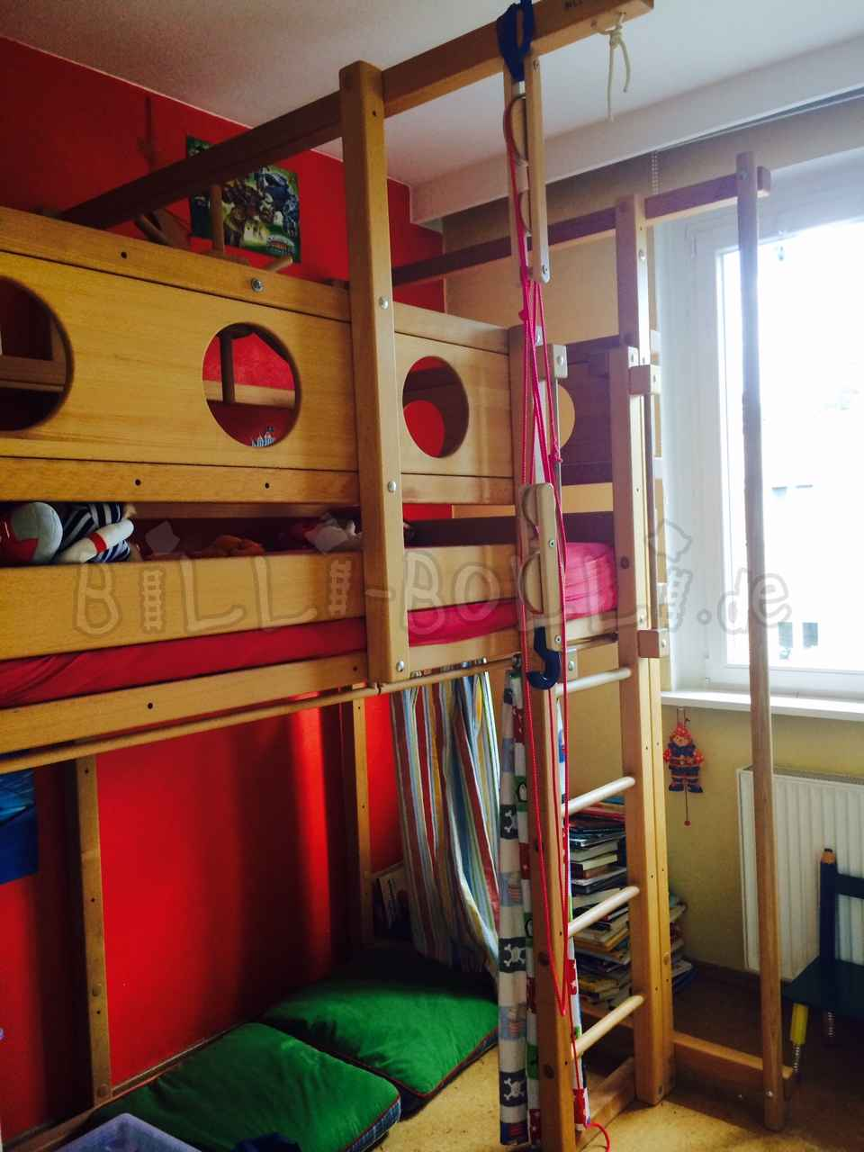 Growing bunk bed, 100 x 200 cm, beech oiled/waxed (second hand loft bed)