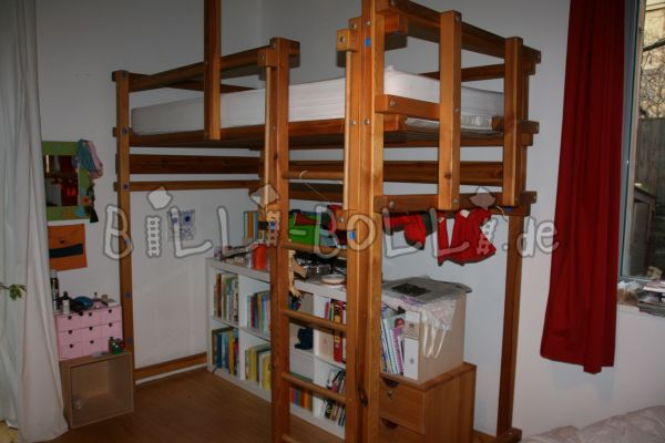 growing bunk bed 100 x 200 cm, jaw untreated (second hand loft bed)