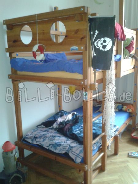 Collumbering high bed, 100 x 200cm, pine oiled (second hand loft bed)