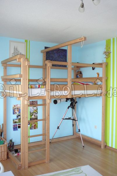 Growing bunk bed, 100x200cm, beech untreated (second hand loft bed)
