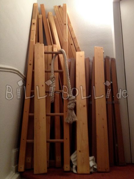 Growing bunk bed 140*200 cm spruce with oil wax treatment (second hand loft bed)
