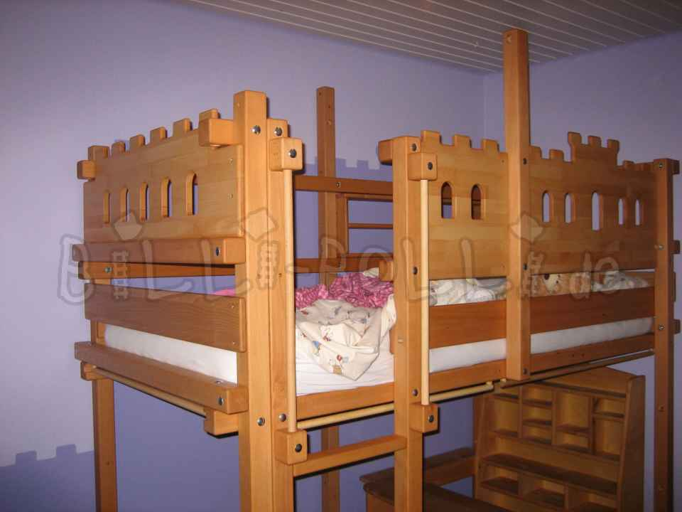 Growing bunk bed, 90 x 200 cm, beech oiled/waxed (second hand loft bed)