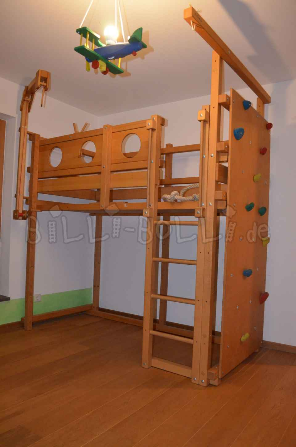 Growing bunk bed 90 x 200 cm, beech oiled/ waxed (second hand loft bed)
