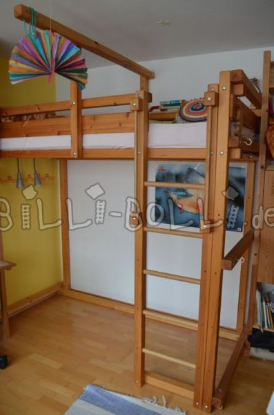 Growing bunk bed 90 x 200, jaw oil/wax treated (second hand loft bed)