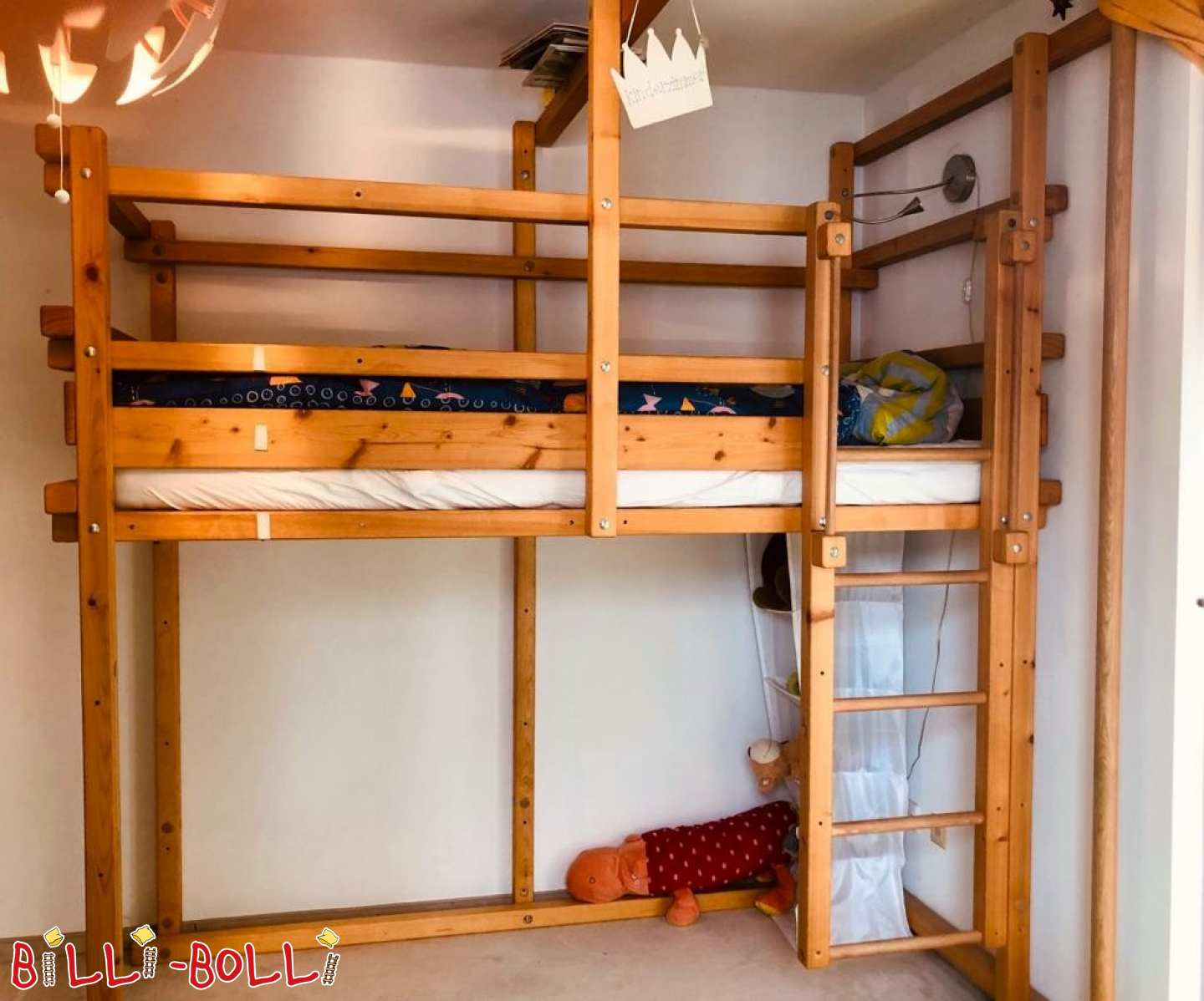Growing bunk bed made of spruce oiled-waxed in Munich (second hand loft bed)