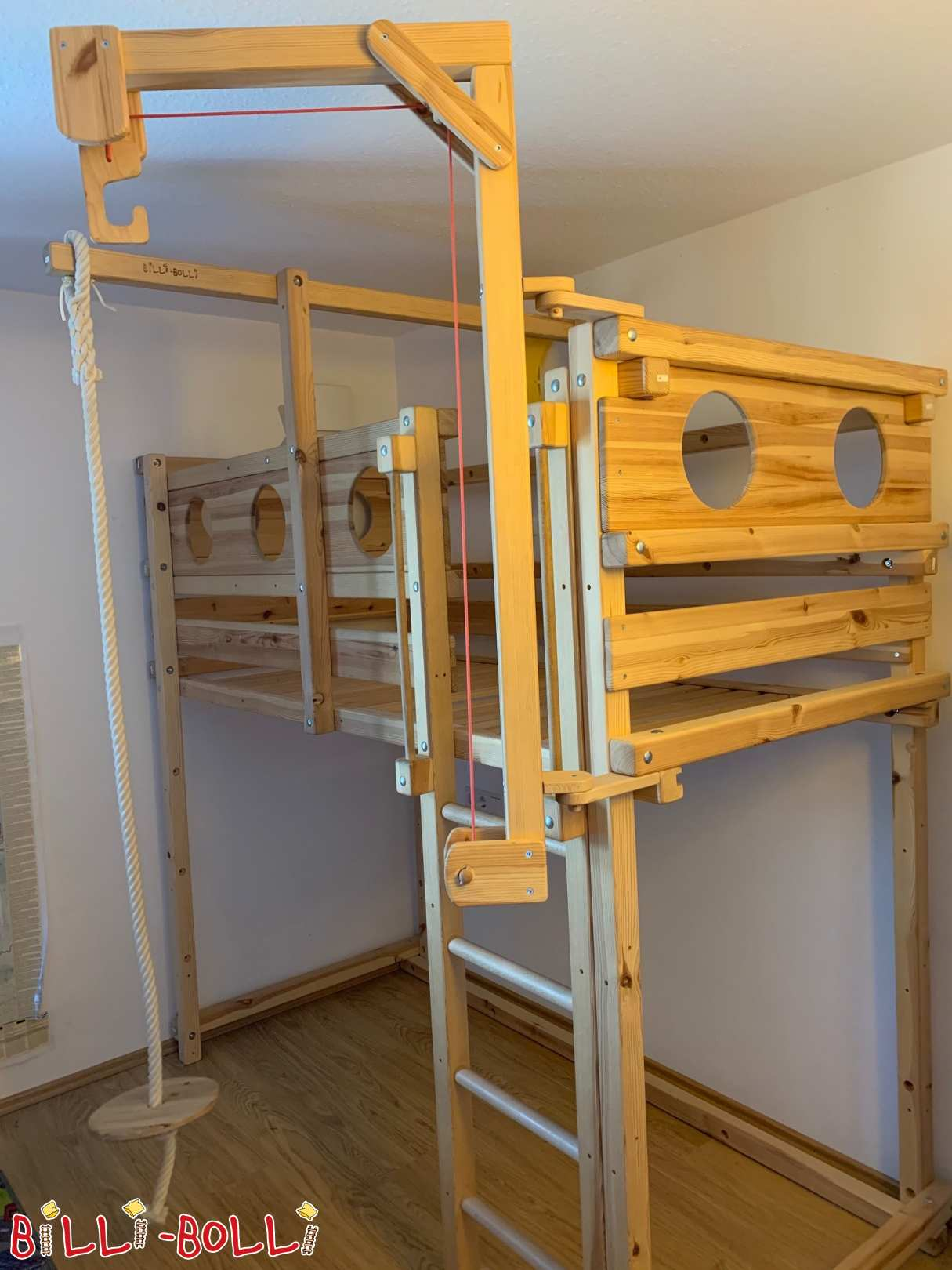 Growing bunk bed made of pine in Munich (second hand loft bed)