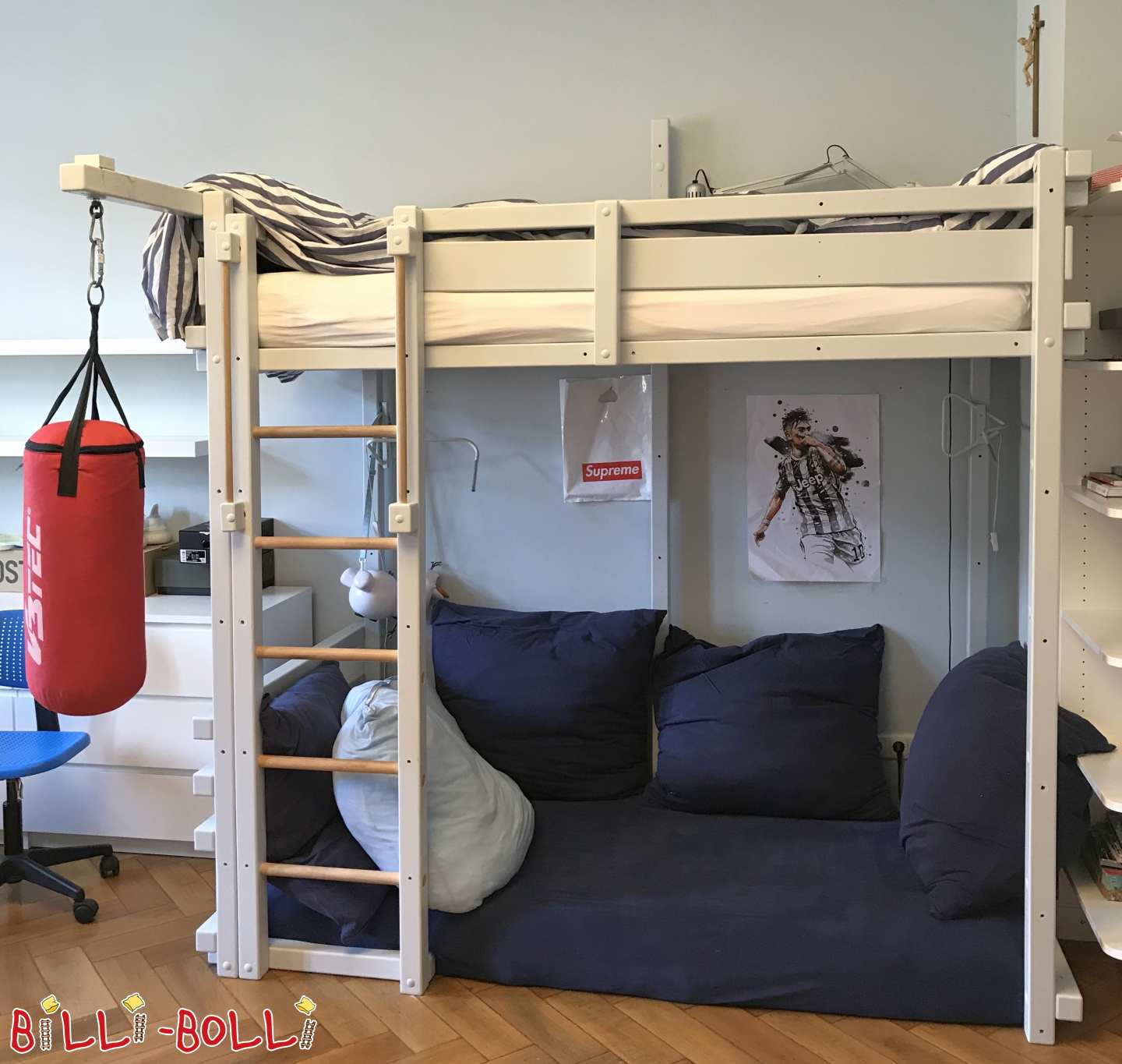 Growing bunk bed blue-grey Dimensions 100 x 200 cm (spruce), Munich (second hand loft bed)