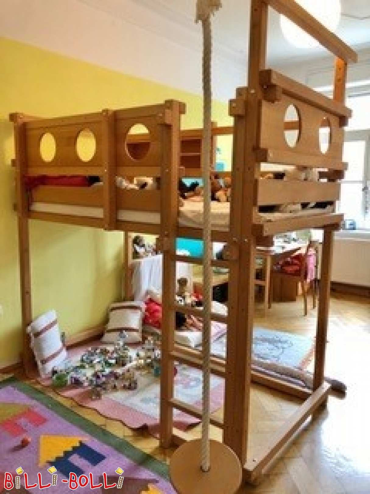 Growing high bed beech - oiled-waxed - 100x200cm in Munich (second hand loft bed)