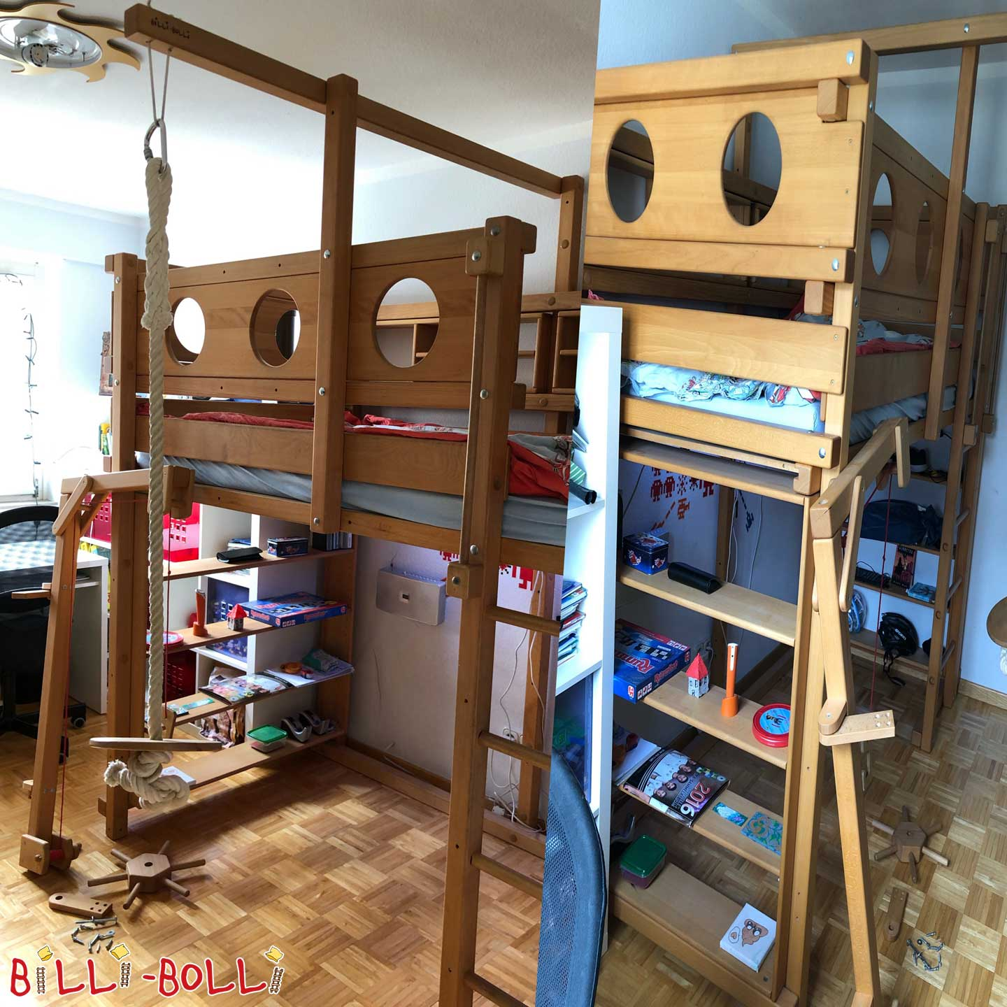 Collating High bed Beech, 100 x 200 cm (second hand loft bed)