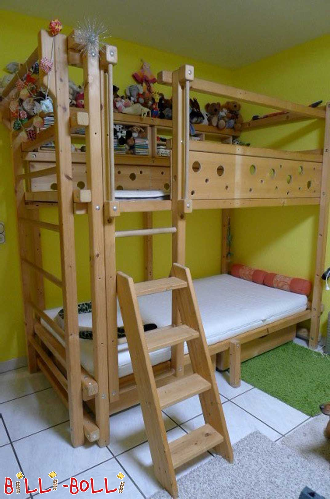 Sparse Loft bed, pine, 100 x 200 cm (second hand loft bed)