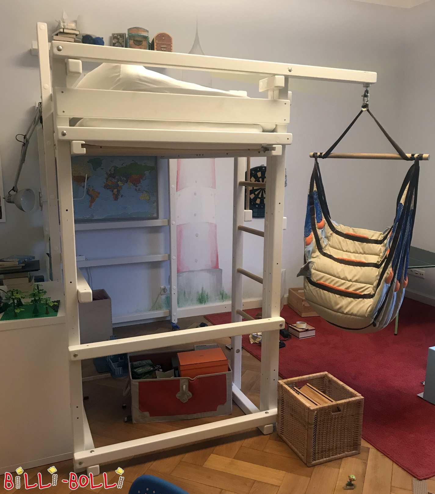 Growing bunk bed spruce white, 100 x 200 cm, Munich (second hand loft bed)