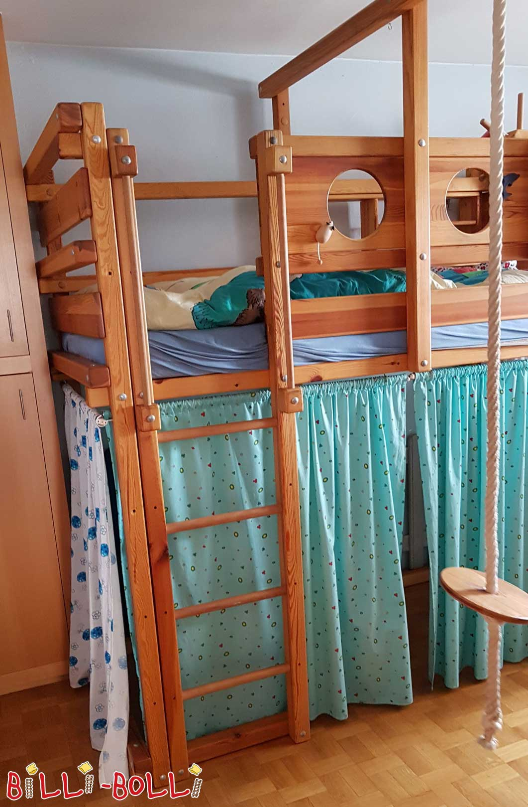 Colluming high bed including conversion sets (second hand loft bed)