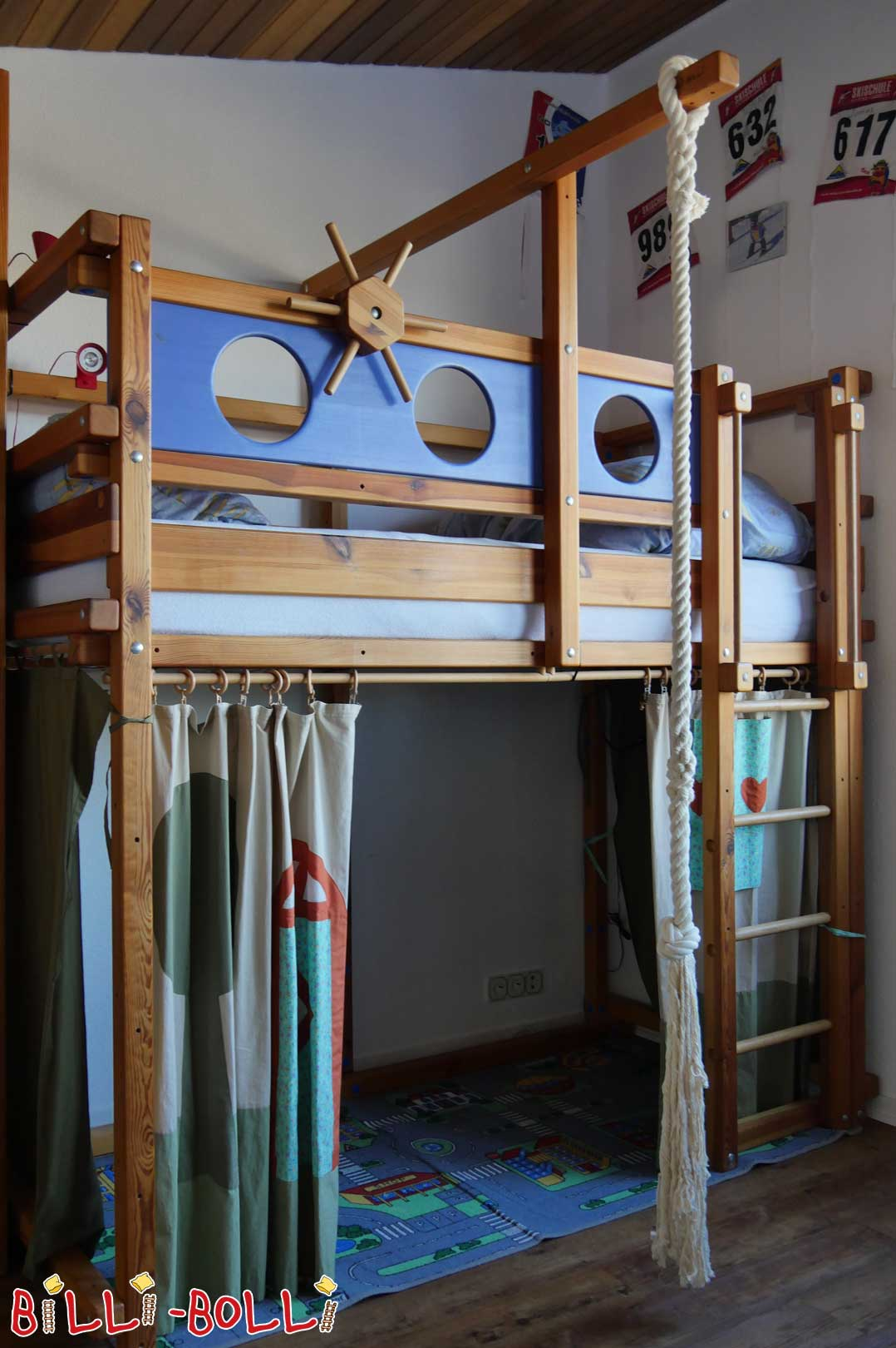 Sparse Loft bed, pine oil, H: 228.5 cm (second hand loft bed)