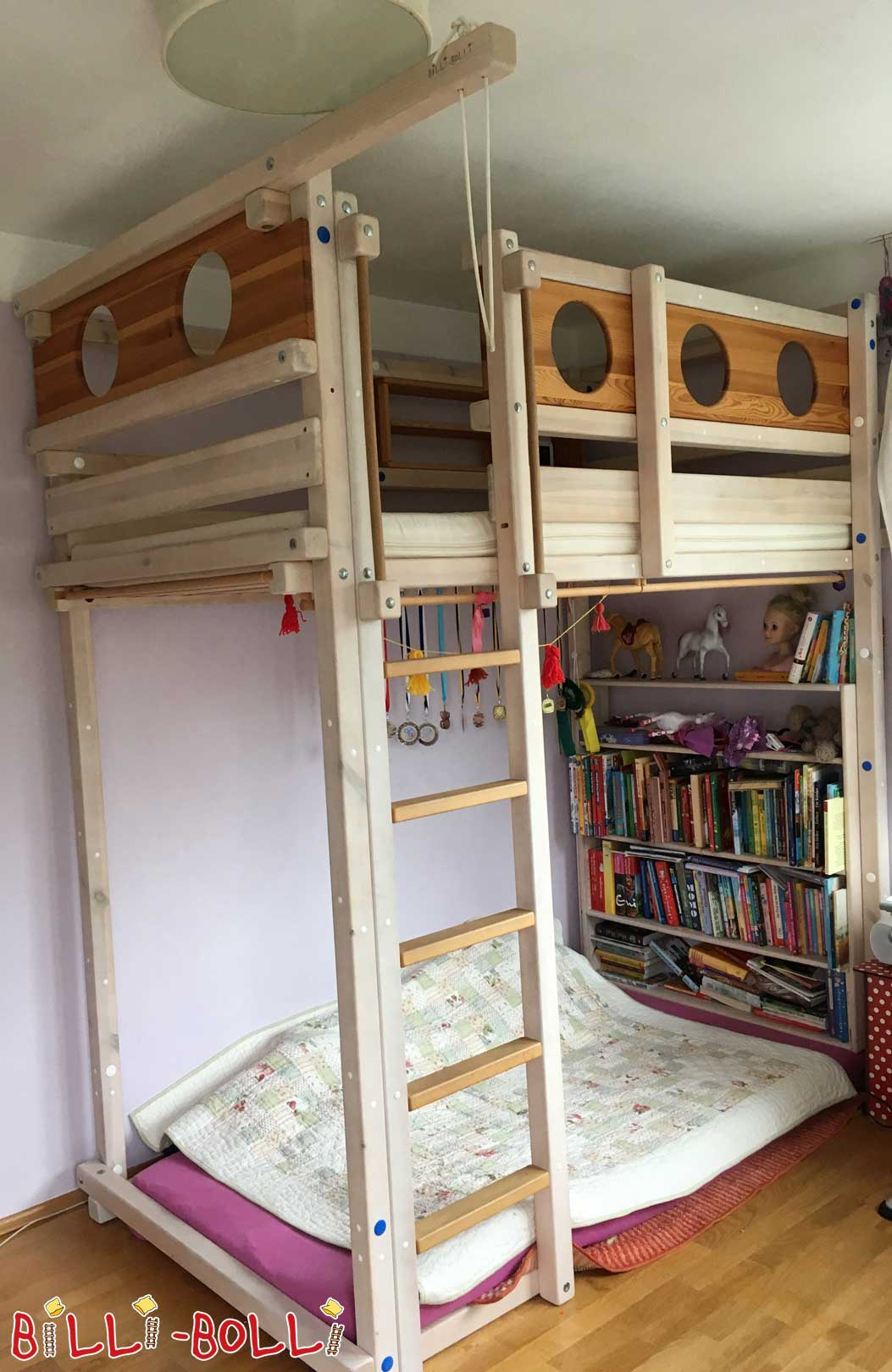 Growing bunk bed and conversion kit to youth bed (second hand loft bed)