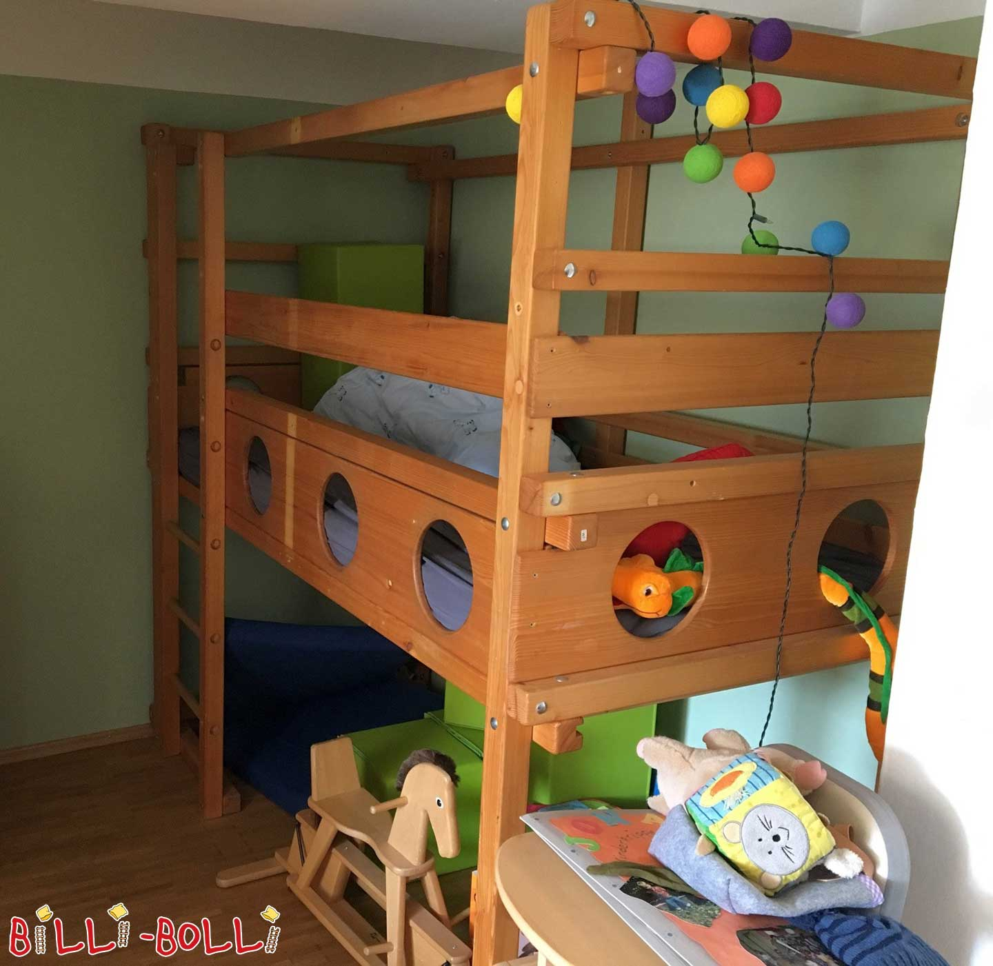 Growing high bed incl. conversion variants (second hand loft bed)