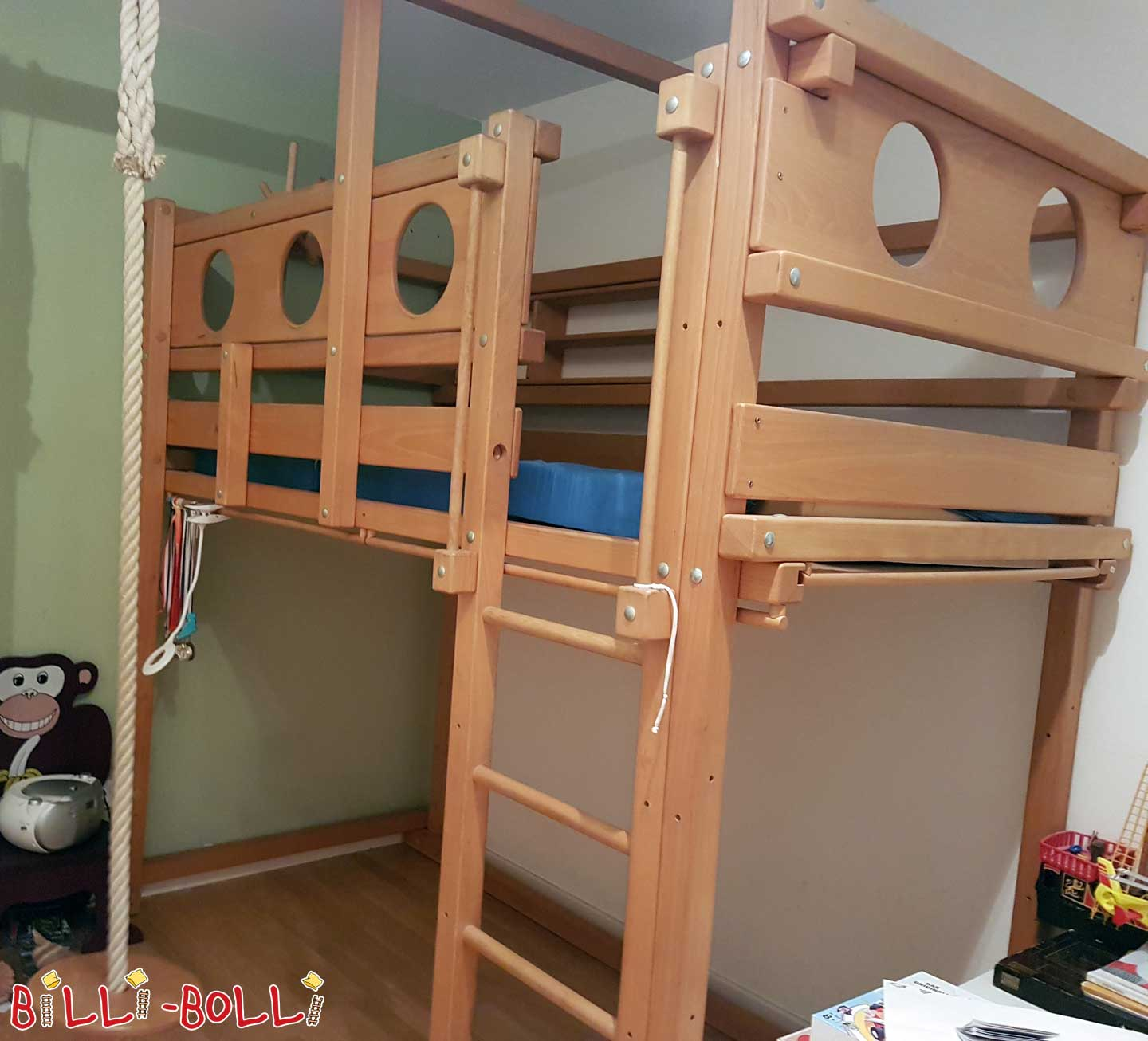 Co-growing pirate high bed (second hand loft bed)