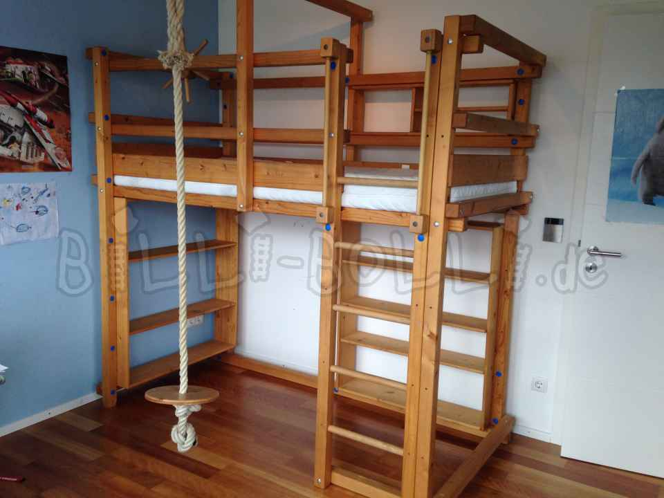 Original Billi Bolli bed with lots of accessories (second hand loft bed)