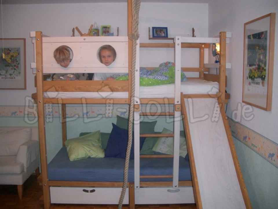 Original Cheap Solli bunk bed, white glazed, 90 x 200 cm (second hand bunk bed)