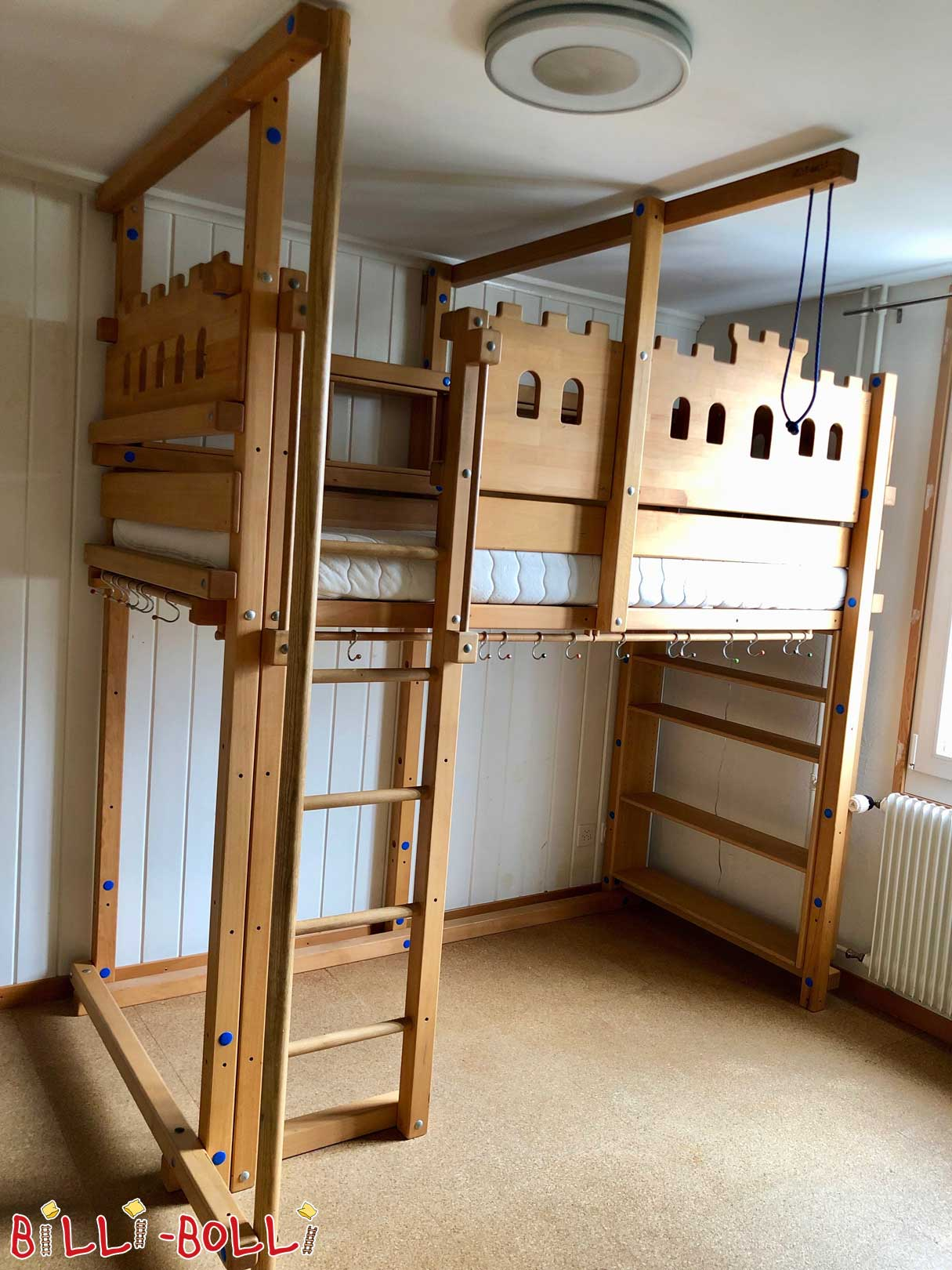 Ritterburg high bed from beech (second hand loft bed)