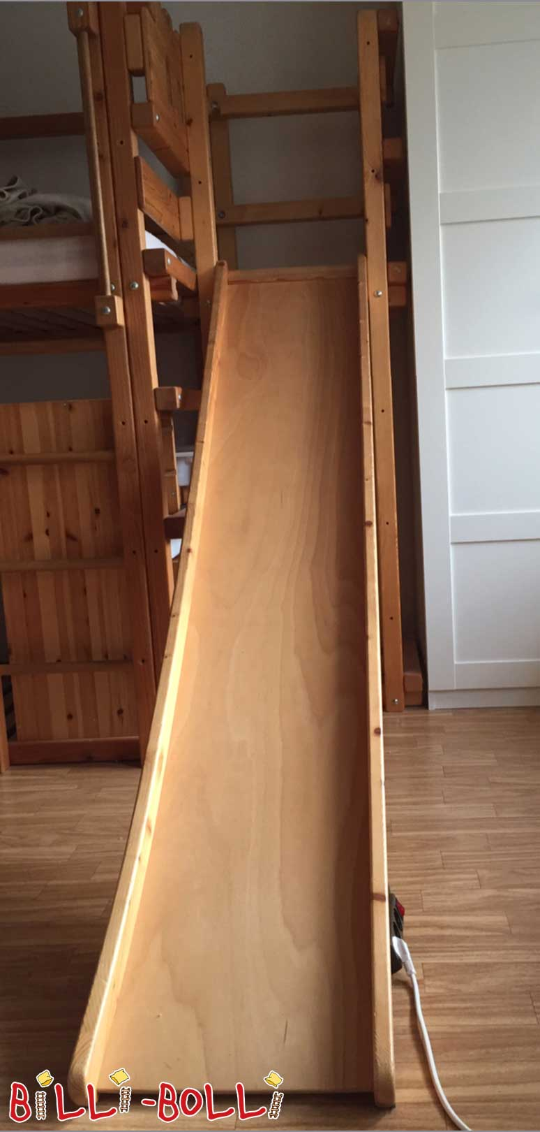 Slide tower with slide height 4 & 5, spruce oiled-waxed (slide for loft bed)