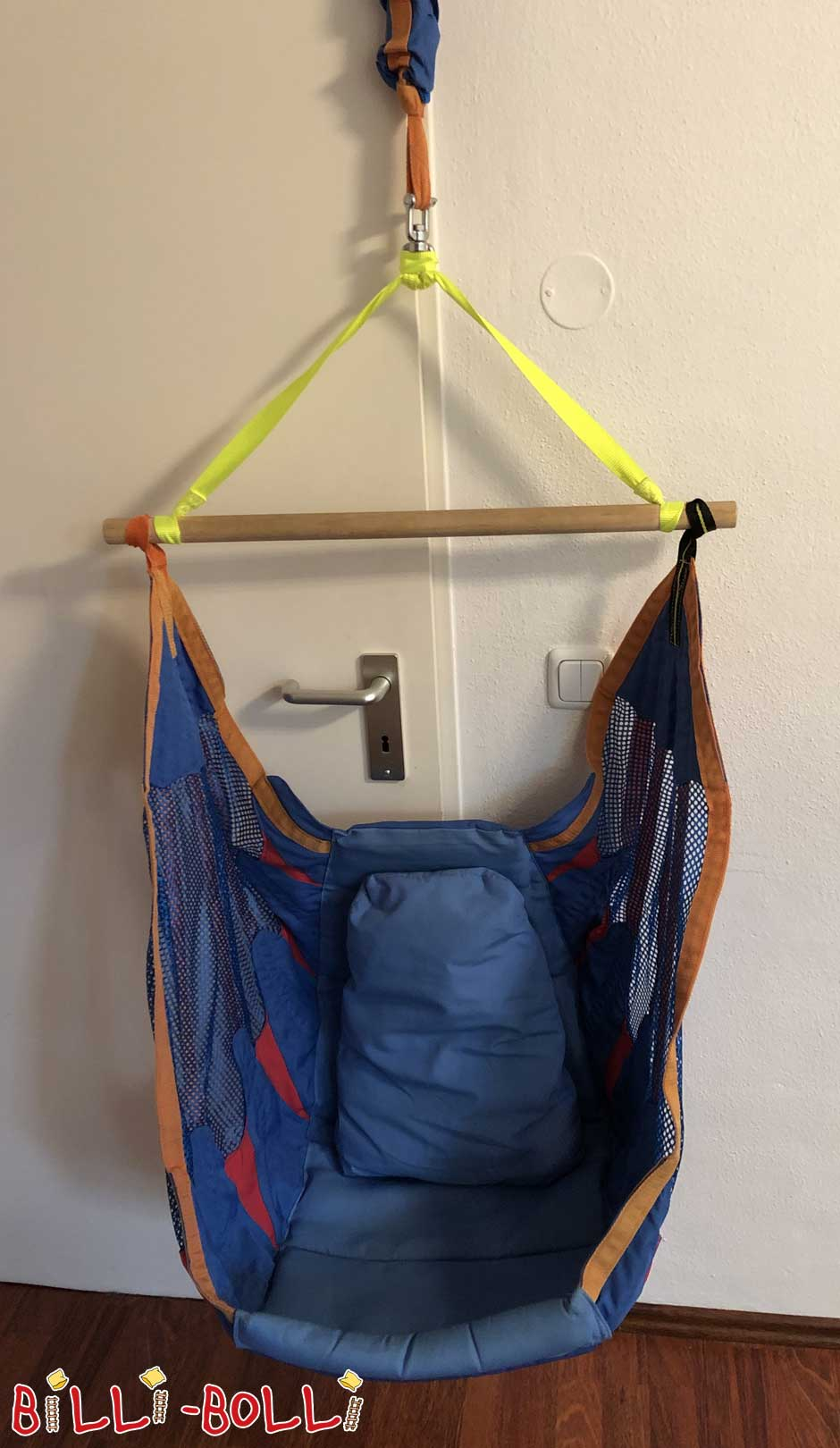 Swing seat, climbing rope & rocking plate (second hand kids' furniture)
