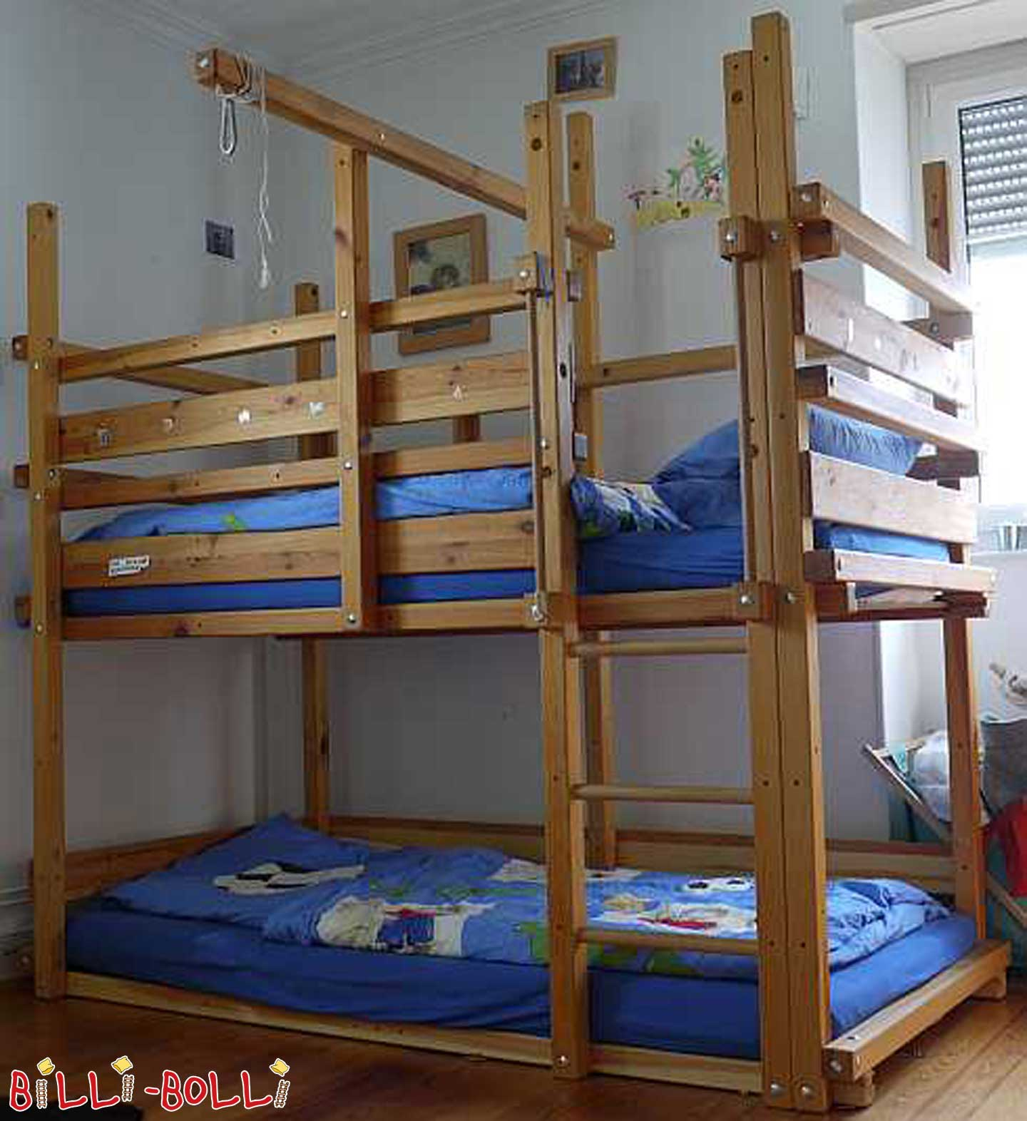 High bed (BJ 2006) with conversion kit to bunk bed (BJ 2008) (second hand loft bed)